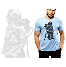 Vintage Underwater Diving Suit T Shirt Soft Cotton Tee By Rancid Nation