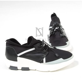 Contrast Banding Upper Lace Up Sneakers 387