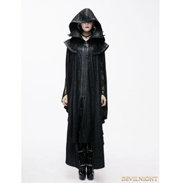 Black Gothic Big Cape For Women Ct057 F
