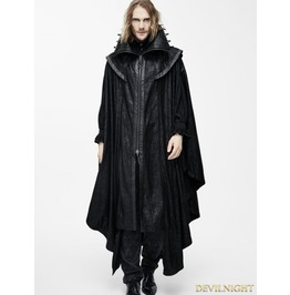 Black Gothic Big Cape For Men Ct057 M