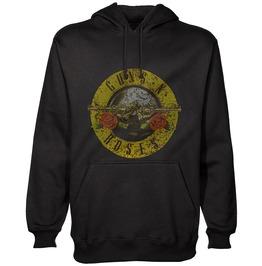 Guns N Roses Hooded Sweatshirt Official Distressed Classic Logo Hoodie