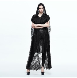 Women's Black Lace Gothic Cape