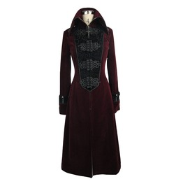 Women's Red Gothic Cross Accent Coat