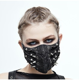 Punk Silver Sharp Nails Mask