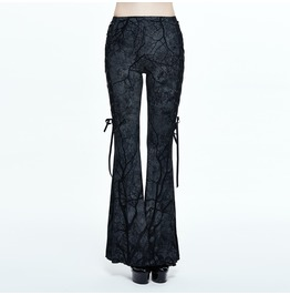 Women's Bell Bottom Branch Print Pants
