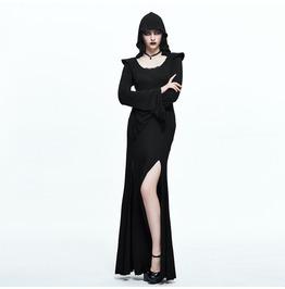 Women's Long Sleeve Thigh Slit Hooded Dress