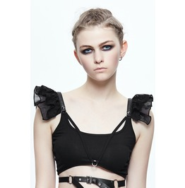 Women's Butterfly Sleeve Crop Top