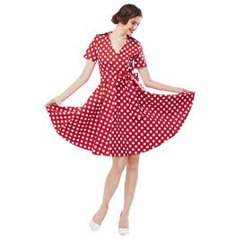 Retro Rockabilly Vintage Style Polkadot Dress