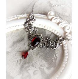 Red Garnet Gothic Choker Necklace Handmade