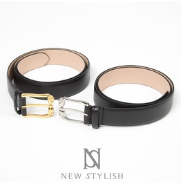 Small Skull Buckle Genuine Leather Belt 64