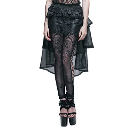 Women's Long Tail Lace Gothic Skirt