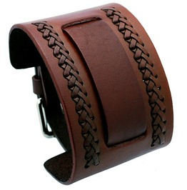 Nemesis Nw B Brown Wide Leather Cuff Wrist Watch Band