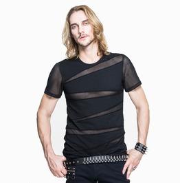 Men's Short Sleeve Ripped Mesh T Shirt