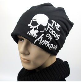 Punk 100% Cotton Beanies Cold Weather Hat Skull Cap Beanie For Men Women