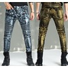 Rebelsmarket metal rock men skinny jeans slim fit pants  jeans 16