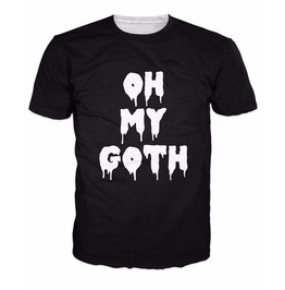Oh My Goth Men's T Shirt Top Tees Black