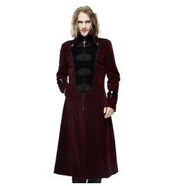 Men's Red Gothic Cross Accent Coat