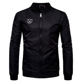 Men's Patch Waterproof Bomber Jacket