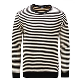 Men's Stripes O Neck Thick Long Sleeve Sweatshirt