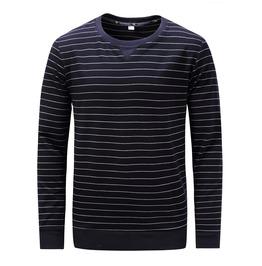 Men's Stripe Cotton Long Sleeve Sweatshirt