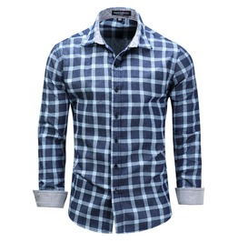 Men's Classic Plaid Button Down Casual Shirt