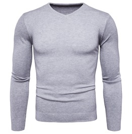 Men's Classic V Neck Slim Fitted Knit Sweater
