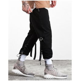 Men's Hiphop Ribbon Casual Baggy Jogger Pants