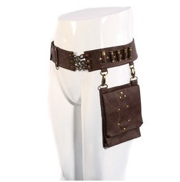 Rq Bl Men's Steampunk Bullet Retro Faux Leather Waist Bags 035