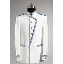 Mens White Navy Style Stage Formal Blazer Coats