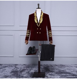 New Arrival Runway Fashion Men's Formal Embroidery Blazers
