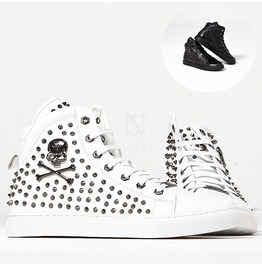Spike Studs Skull High Top Sneakers 391