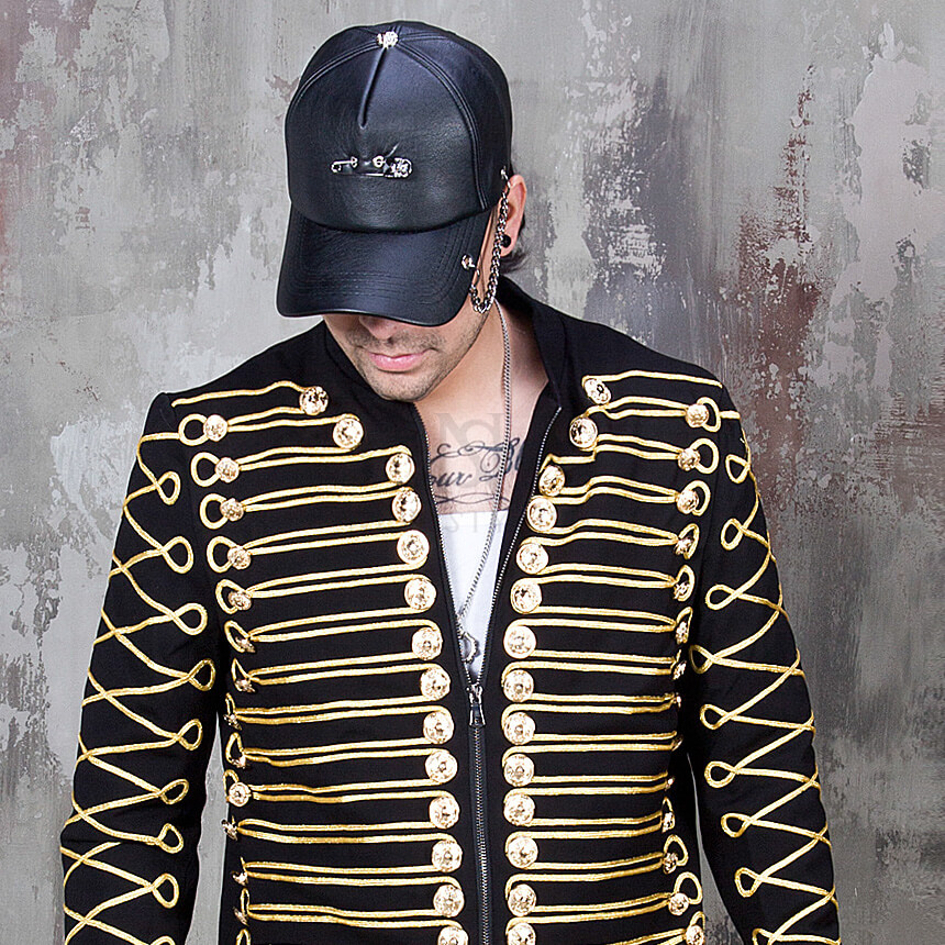 rebelsmarket_safety_pin_chain_accent_black_leather_cap_hat_18_hats_and_caps_9.jpg