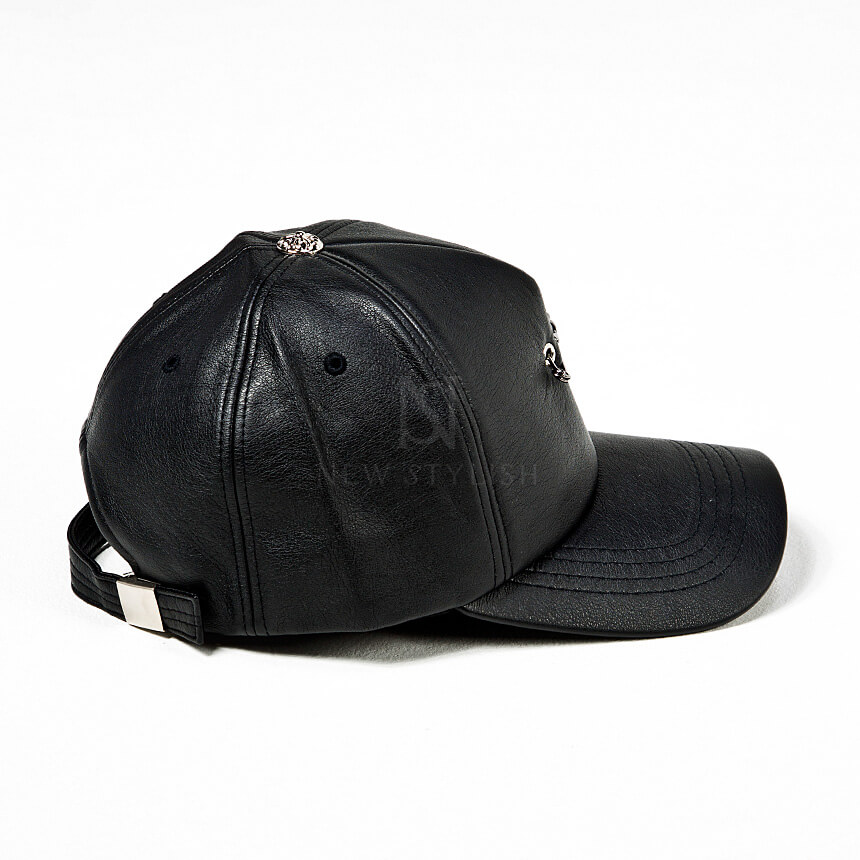 rebelsmarket_safety_pin_chain_accent_black_leather_cap_hat_18_hats_and_caps_8.jpg