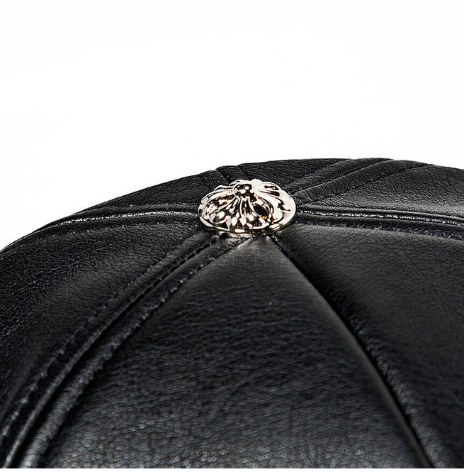 rebelsmarket_safety_pin_chain_accent_black_leather_cap_hat_18_hats_and_caps_2.jpg