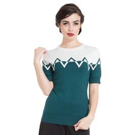Voodoo Vixen Adeline Teal Sweater
