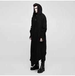 Men's Distressed Hooded Cardigan Cloak Coat Opy228