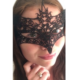 Black Lace Masquerade Mask Fox Fancy Dress Costume Halloween