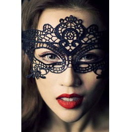 Black Lace Elegant Masquerade Mask Fancy Dress Costume Halloween