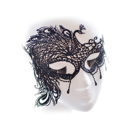 Black Lace Elegant Peacock Masquerade Mask Fancy Dress Costume Halloween