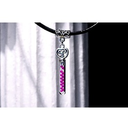 Submissive Collar Triskele Bdsm Symbol Bottle Necklace Psychedelic Acid