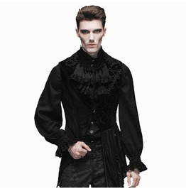 Men's Gothic Inspired Asymmetrical Hem Waistcoat