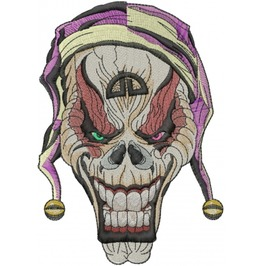 Embroidered Joker Skull Patch
