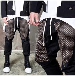 Sparkling Gold Spangle Black Sweatpants 267