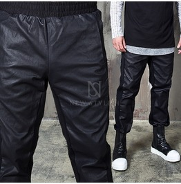 Coated Carbon Contrast Black Banding Jogger Sweatpants 268