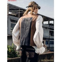 Brown And Black Industrial Steampunk Man Vest Spm 016