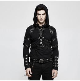 Punk Rave Men's Military Uniform Cowhide Harness Belt S218