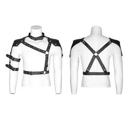 Punk Rave Men's Vintage Adjustable Buckle Cross Harness Belt S236