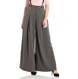 Voodoo Vixen Khloe Grey 40s Style Trousers