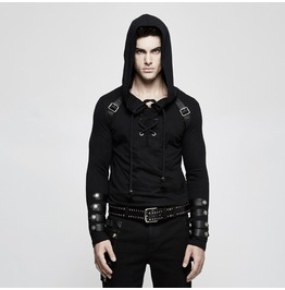 Punk Rave Men's Lace Up Slim Fitted Hoodies T483