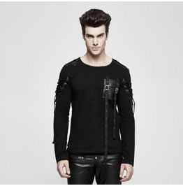 Punk Rave Men's Military Uniform Buckle Pocket Long Sleeve Shirt T487